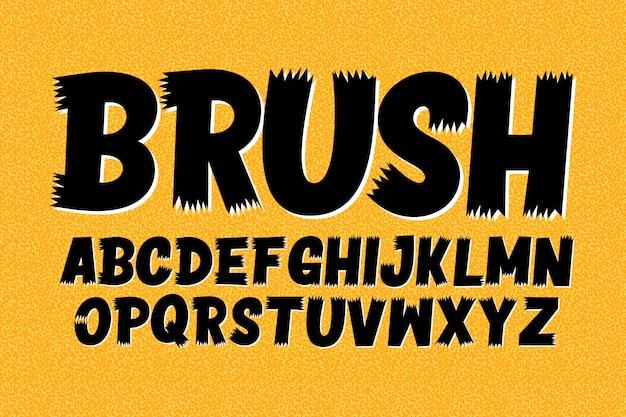 Letras maiúsculas do alfabeto escova
