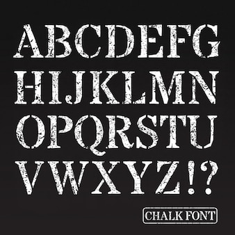 Letras maiúsculas font giz