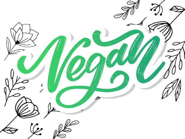 Letras manuscritas veganas
