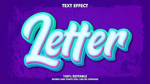 Letras modernas, grafite, efeito de texto design de tipografia de cultura jovem