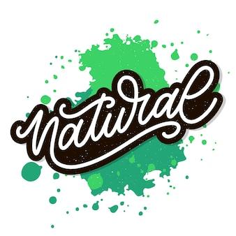 Letras naturais