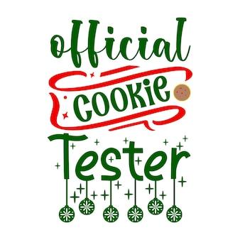 Letras oficiais do testador de cookies com design de vetor premium