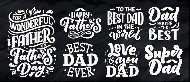 Letras para cartão de dia dos pais, ótimo design para qualquer finalidade.