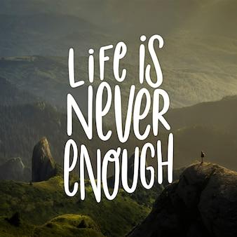 Letras positivas com mensagem inspiradora