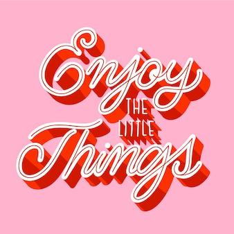 Letras positivas em estilo vintage