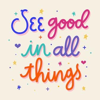 Letras positivas são boas em todas as coisas