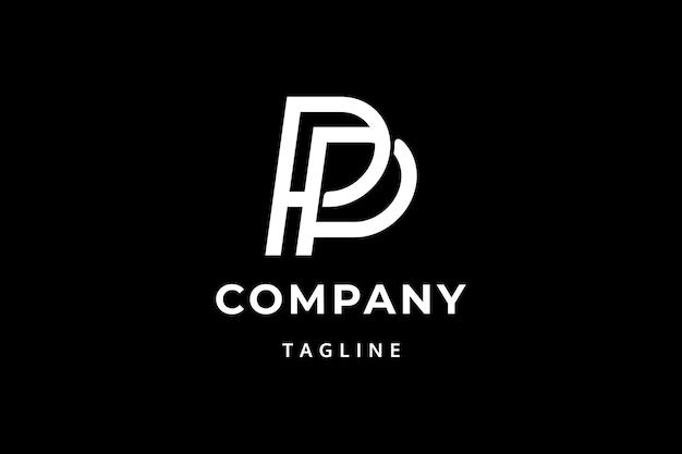 Letras pp design do logotipo inicial