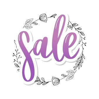 Letras pretas: venda, mão esboçada tipografia de letras de venda. mão desenhada sinal de letras de venda. crachá, ícone, banner, tag, ilustração