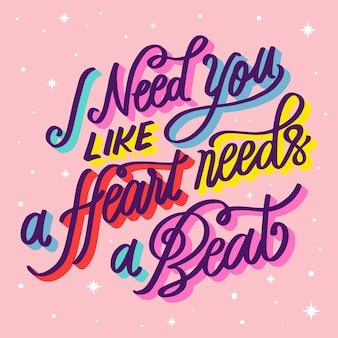 Letras românticas