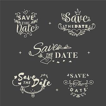 Letras salvar a data definida