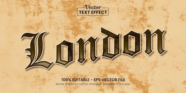 Letras vintage clássicas de grunge, efeito de texto editável