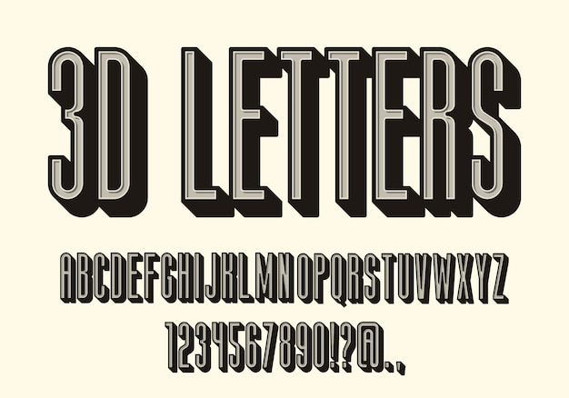 Letras vintage, conjunto de caracteres alfabéticos retrô. letras volumétricas condensadas, símbolos em massa com a sombra. cores retrô. fácil de usar