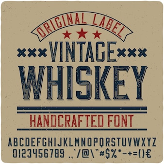 Letras vintage de uísque vintage