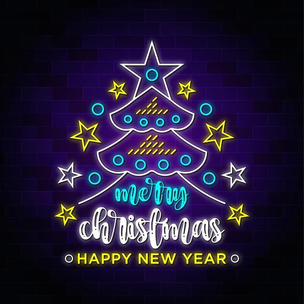 Letreiro de néon com tema natalino