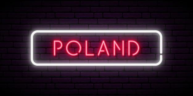 Letreiro de néon da polônia
