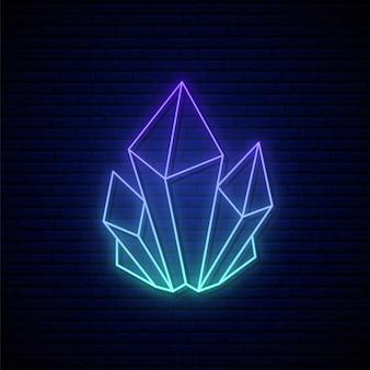 Letreiro de néon de cristal