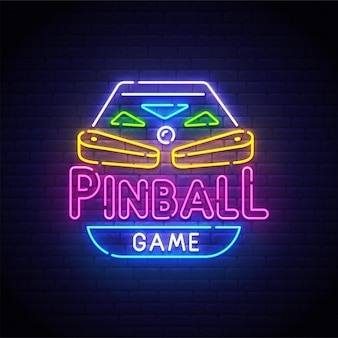 Letreiro de néon de pinball