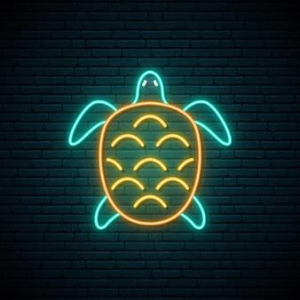 Letreiro de néon de tartaruga