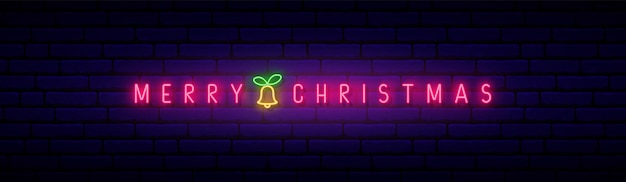 Letreiro de néon feliz natal