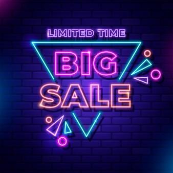 Letreiro de venda de néon