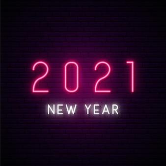 Letreiro neon de ano novo