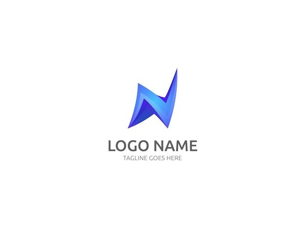 Lette n logo design vector template design