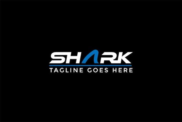 Letter shark texto palavra tipografia tipo de fonte logo design vector