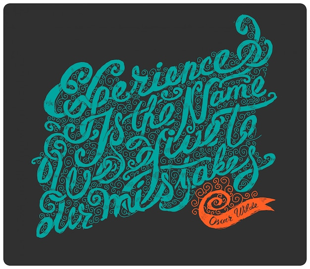 Letterig caligráfico citação
