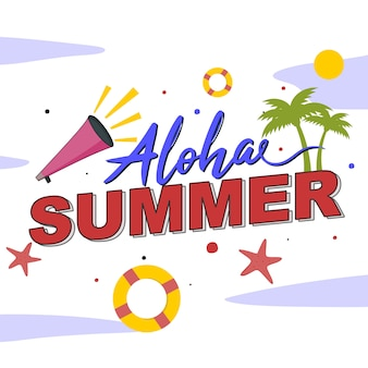 Lettering: aloha verão