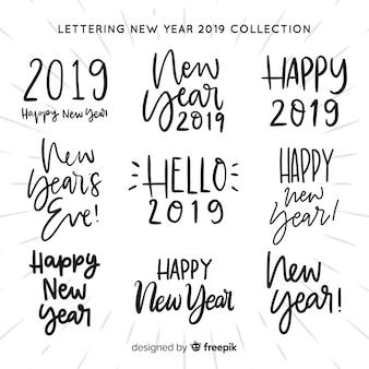 Lettering ano novo 2019 coleção