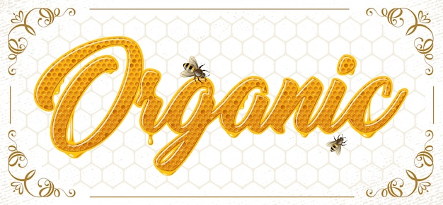 Lettering com favo de mel patten