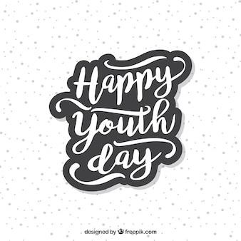 Lettering dia da juventude