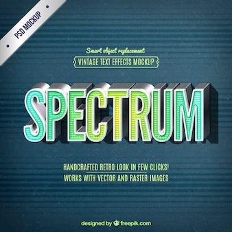 Lettering espectro retro