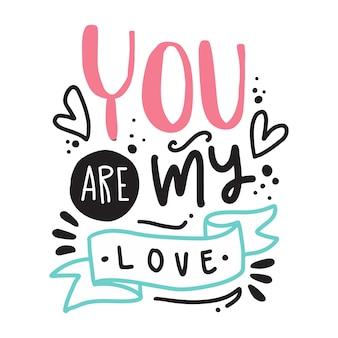Lettering fundo dos namorados