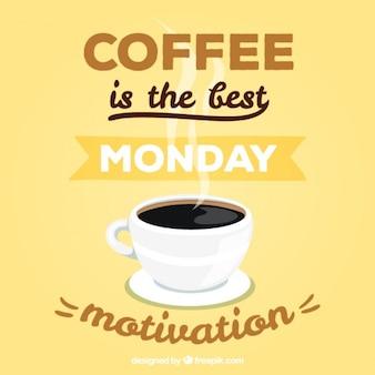 Lettering motivacional para uma segunda-feira