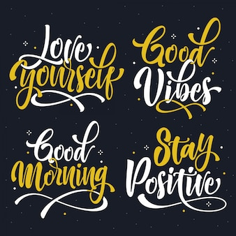 Lettering quotes collection