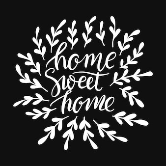 Lettering sweet home