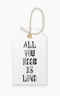 Lettering tudo que você precisa é amor