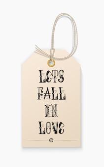 Lettering vamos nos apaixonar