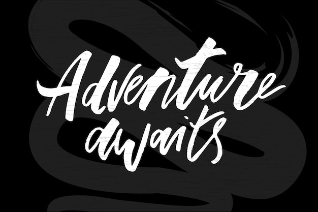 Lettering with phrase aventura