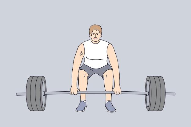 Levantamento de peso, estilo de vida esportivo, conceito de levantamento de peso