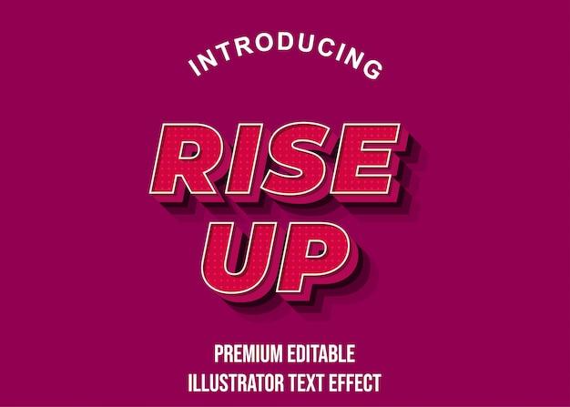 Levantar estilo de efeito de texto em negrito vermelho forte
