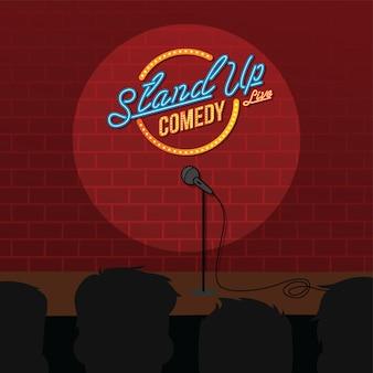 Levante o microfone comédia aberto