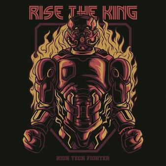 Levante o rei ilustração
