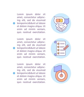 Leve em conta os desejos do ícone do conceito de consumidor com texto. modelo de página ppt de lista de produtos e análises de produção.