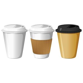 Leve embora copos de café