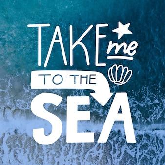 Leve-me para o mar letras com foto