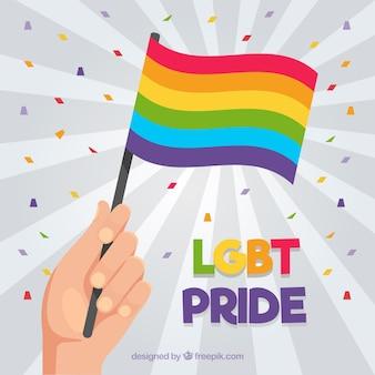Lgbt orgulho fundo com bandeira
