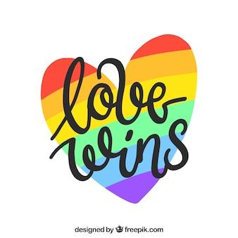 Lgbt orgulho fundo com coração colorido