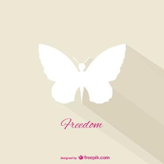 Liberdade borboleta vetor